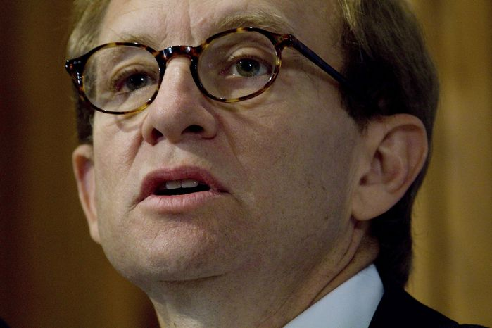 ** FILE ** Steven Rattner, former head of the Obama administration's task force on the auto industry, delivers the keynote address on the auto bailout at the National Press Club in Washington in October 2009. (AP Photo/J. David Ake)