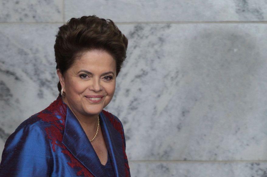 ** FILE ** Brazil's President Dilma Rousseff was sworn in on Jan. 1, 2011. (AP Photo/Eraldo Peres)