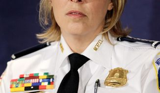 """Could the city's annual homicide toll fall below 100? D.C. police Chief Cathy L. Lanier says, """"Yes, and we're going to do it."""" (Associated Press)"""