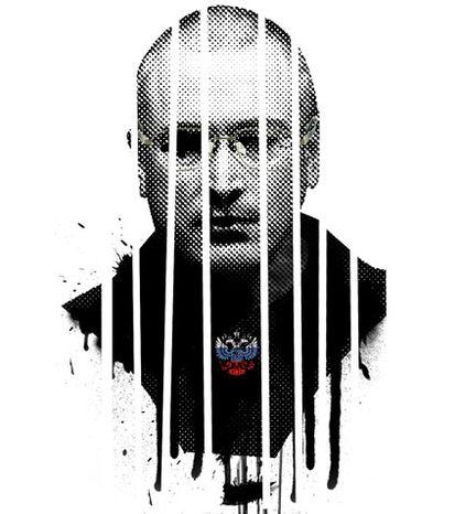 Illustration: Mikhail Khodorkovsky by Linas Garsys for The Washington Times