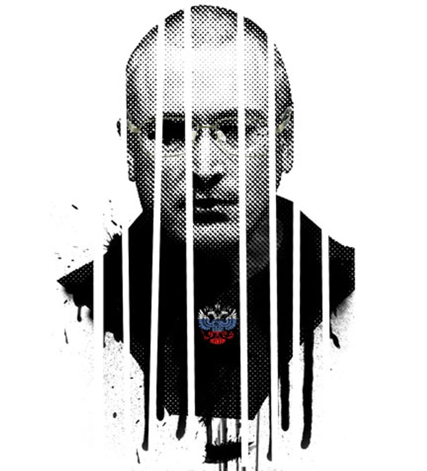 Illustration: Mikhail Khodorkovsky by Linas Garsys for The Washington Times