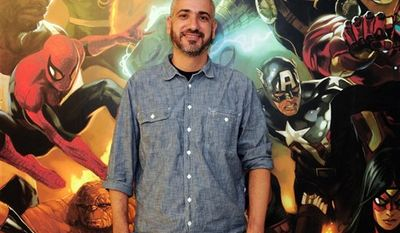 In this undated publicity image released by Marvel Entertainment, new Editor-in-Chief Axel Alonso is shown. Alonso will oversee all of Marvel's publishing aspects and will advise on their creative direction, as well as help develop new story lines and new initiatives for the heroes and villains that make up Marvel's roster, including the Avengers, Spider-Man, Punisher and Dr. Doom, among others. (AP Photo/Marvel Entertainment)