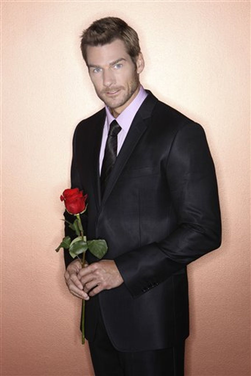 "In this undated publicity image released by ABC, Brad Womack from ""The Bachelor,"" is shown. The series premieres Monday, Jan. 3, 2011 at 8:00 p.m. EST on ABC. (AP Photo/ABC, Bob D'Amico)"