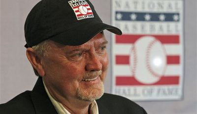 Former Minnesota Twins pitcher Bert Blyleven smiles as he addresses the media during a news conference after being elected to Baseball's Hall of Fame in Fort Myers, Fla., Wednesday, Jan. 5, 2011. (AP Photo/Erik Kellar)