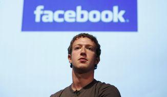** FILE ** Facebook founder Mark Zuckerberg (AP Photo/Jeff Chiu, File)