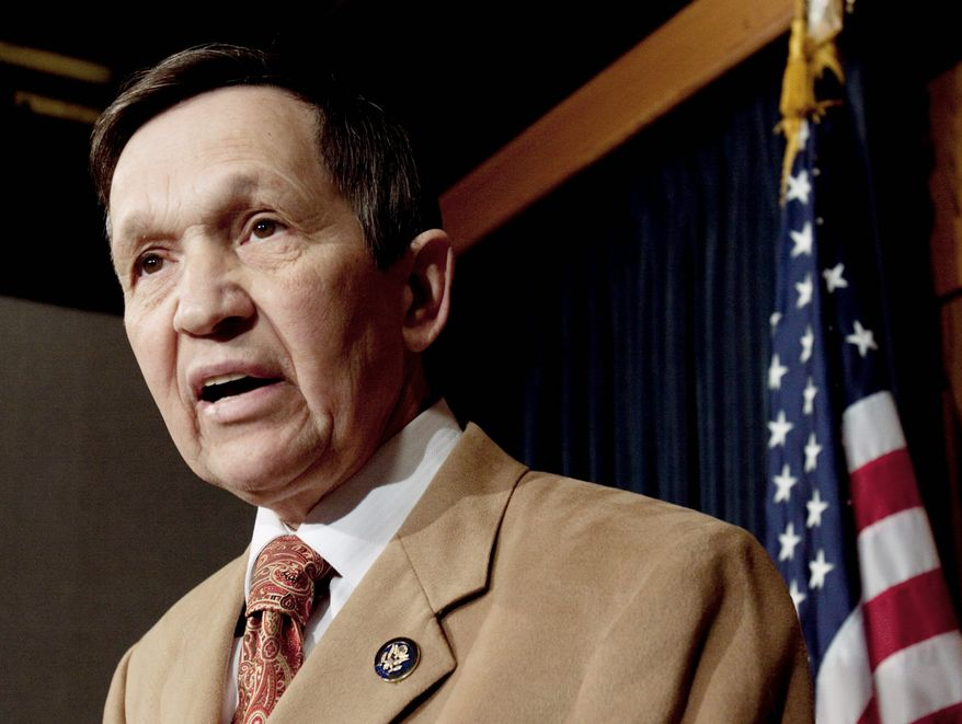 Rep. Dennis J. Kucinich, Ohio Democrat, has contacted supporters about helping him influence state lawmakers who are redrawing the political map of his state. (Associated Press)