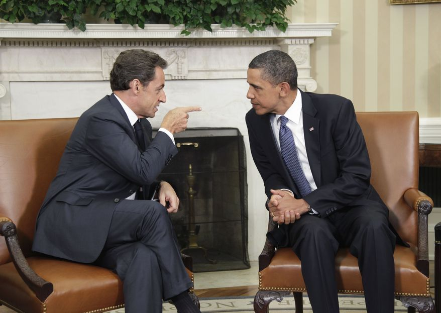 President Obama meets with French President Nicolas Sarkozy in the Oval Office of the White House, Monday, Jan. 10, 2011. As France assumes the presidency of the G-8 and the G-20 for 2011, Mr. Obama and Mr. Sarkozy will discuss a broad range of current financial, foreign policy and security issues. (AP Photo/J. Scott Applewhite)