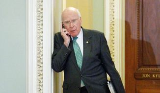 **FILE** Sen. Patrick J. Leahy, Vermont Democrat and Judiciary Committee chairman (Associated Press)