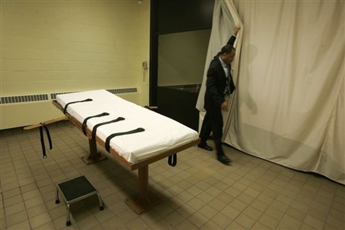 ** FILE ** The death chamber at the Southern Ohio Corrections Facility in Lucasville, Ohio, is pictured in 2005.  (AP Photo/Kiichiro Sato)