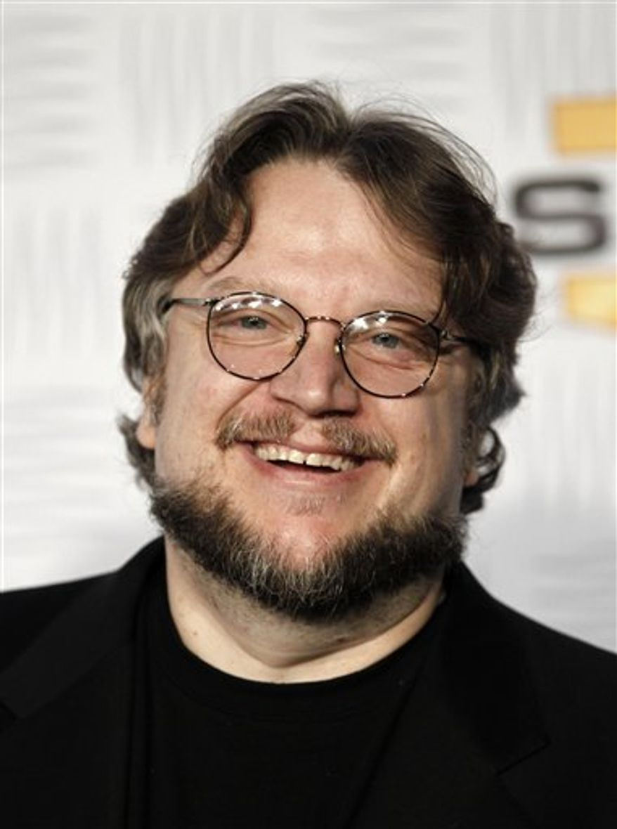 """FILE - In this Dec. 11, 2010 file photo, writer-director Guillermo del Toro arrives at Spike TV's Video Game Awards  in Los Angeles. Del Toro  is working on the """"Incredible Hulk"""" pilot for ABC. (AP Photo/Matt Sayles)"""