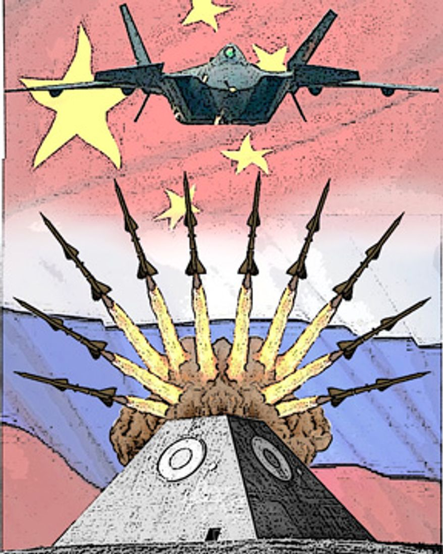 Illustration: A strong China by Alexander Hunter for The Washington Times