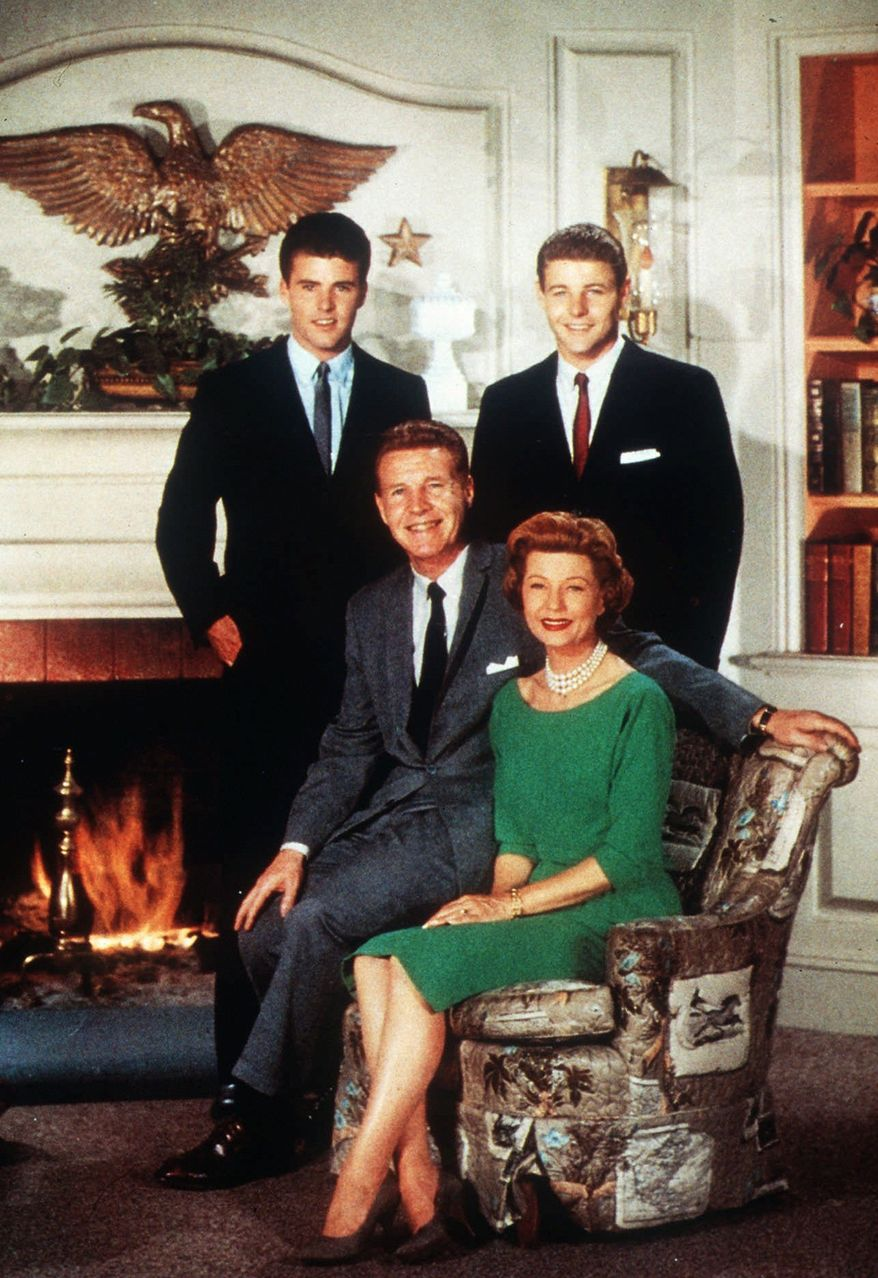 "Nelson family, on TV and in real life, were Ozzie and Harriet and sons Rick and David (right). ""The Adventures of Ozzie & Harriet"" was popular in the 1950s and early '60s. David died Tuesday at his home in Los Angeles. (Associated Press)"