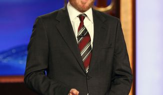 "** FILE ** In this Nov. 9, 2010, file publicity image originally released by Team Coco, Conan O'Brien gives his monologue on ""Conan."" (AP Photo/Team Coco, Meghan Sinclair, File)"