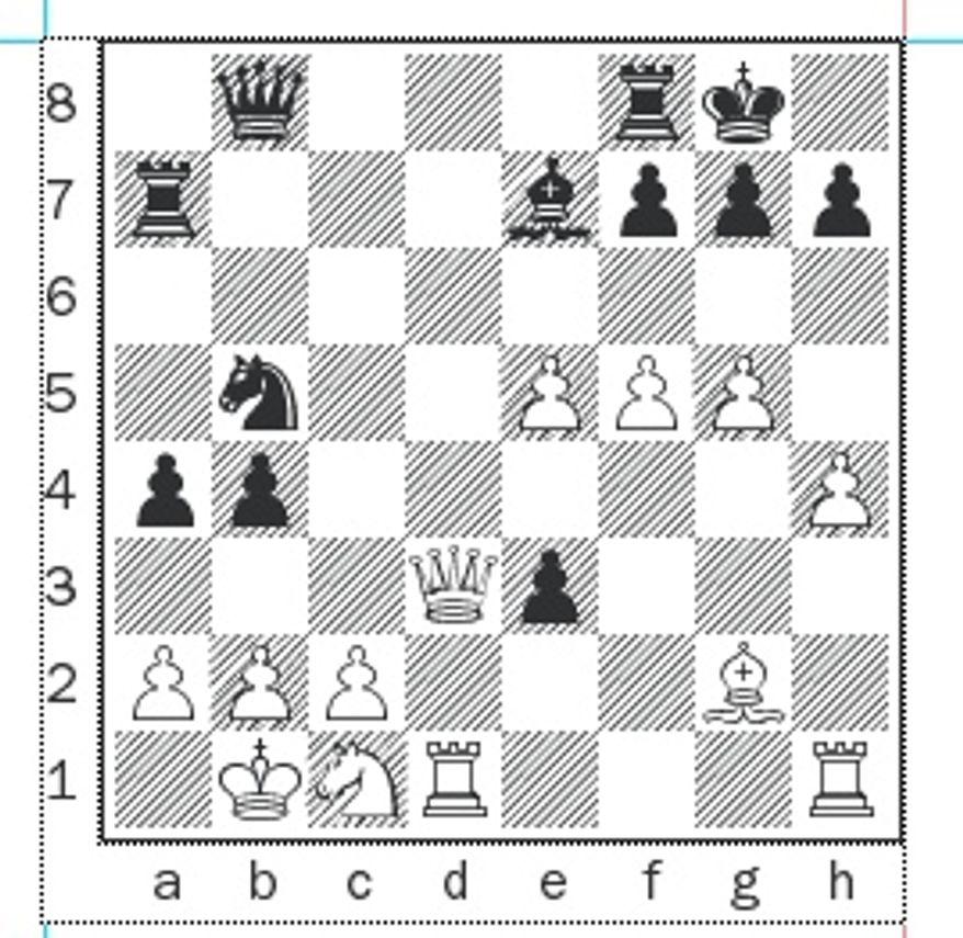 Richman-Beckman after 24. Qd3