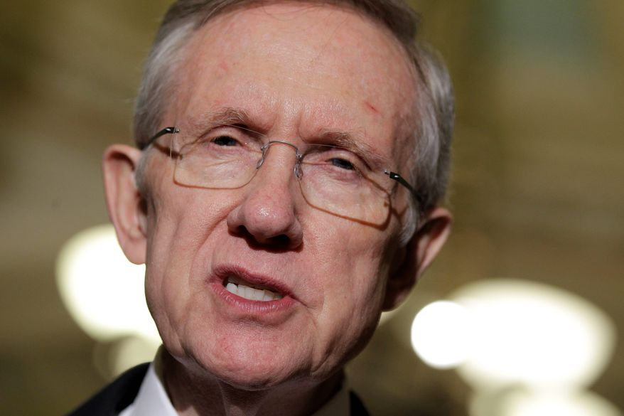 """They can't be serious, to have people now that have pre-existing disabilities to no longer be able to get insurance,"" Senate Majority Leader Harry Reid said Sunday on NBC's ""Meet the Press."" (Associated Press)"