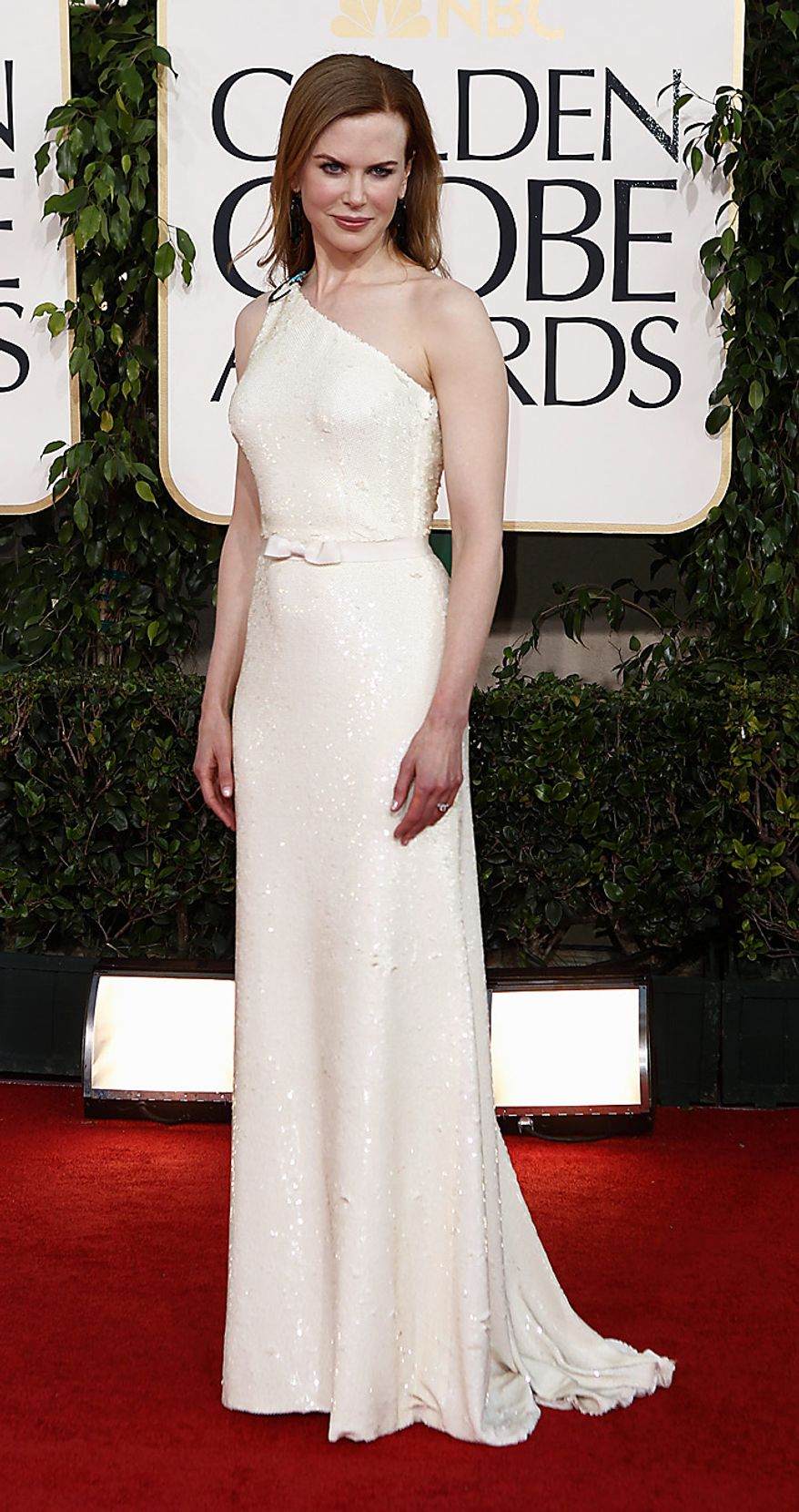 Nicole Kidman arrives for the Golden Globe Awards Sunday, Jan. 16, 2011, in Beverly Hills, Calif. (AP Photo/Matt Sayles)