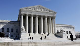 The U.S. Supreme Court building in Washington is pictured in March 2009. (Associated Press)