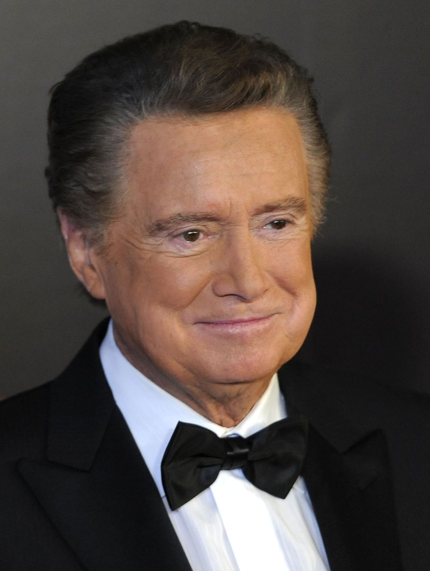 """In this June 27, 2010, photo, host Regis Philbin arrives at the 37th Annual Daytime Emmy Awards, in Las Vegas. Mr. Philbin announced Tuesday, Jan. 18, 2011, that he's retiring from his weekday talk show, """"Live with Regis and Kelly."""" (AP Photo/Chris Pizzello, File)"""