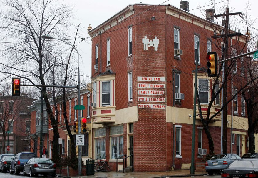 Dr. Kermit Gosnell's Women's Medical Society is seen here in February. The Philadelphia clinic has been shut down, and he was charged Wednesday with eight counts of murder in the deaths of a patient and seven babies who were born alive and then killed with scissors, prosecutors said. (Associated Press)