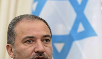 Israel's Foreign Minister Avigdor Lieberman is putting together an interim peace plan that would grant the Palestinians limited independence in an attempt to blunt their efforts to win international recognition of an independent state, a government official said Sunday, Jan. 23, 2011. (AP Photo/Thanassis Stavrakis, File)