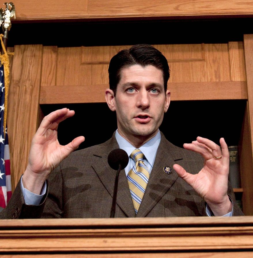 """""""Americans are skeptical of both political parties, and that skepticism is justified — especially when it comes to spending. So hold us accountable,"""" said Rep. Paul D. Ryan, Wisconsin Republican, in prepared remarks released before President Obama addressed lawmakers Tuesday evening. (Associated Press)"""