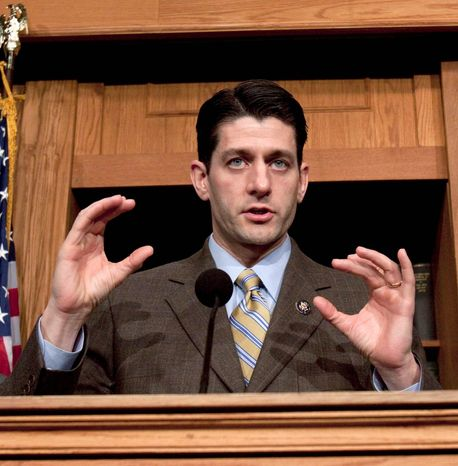 """Americans are skeptical of both political parties, and that skepticism is justified — especially when it comes to spending. So hold us accountable,"" said Rep. Paul D. Ryan, Wisconsin Republican, in prepared remarks released before President Obama addressed lawmakers Tuesday evening. (Associated Press)"