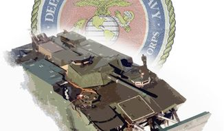 Illustration: Marine EFV by Greg Groesch for The Washington Times