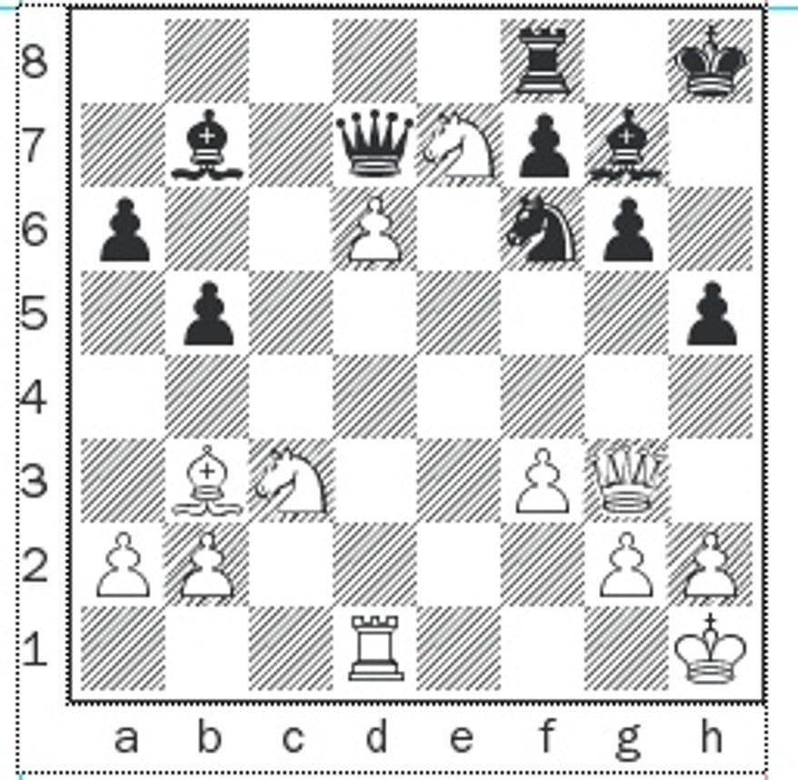 Nyzhnyk-Kazhgaleyev after 32...Kh8.
