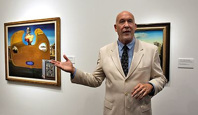 Dr. Hank Hine, director of the new Salvador Dali Museum, speaks during a media tour at the museum in St. Petersburg, Fla., on Jan. 10, 2011 The new Salvador Dali Museum in St. Petersburg, opened in January, is the latest in a string of splashy arts venues on Florida's west coast. (AP Photo/Chris O'Meara)