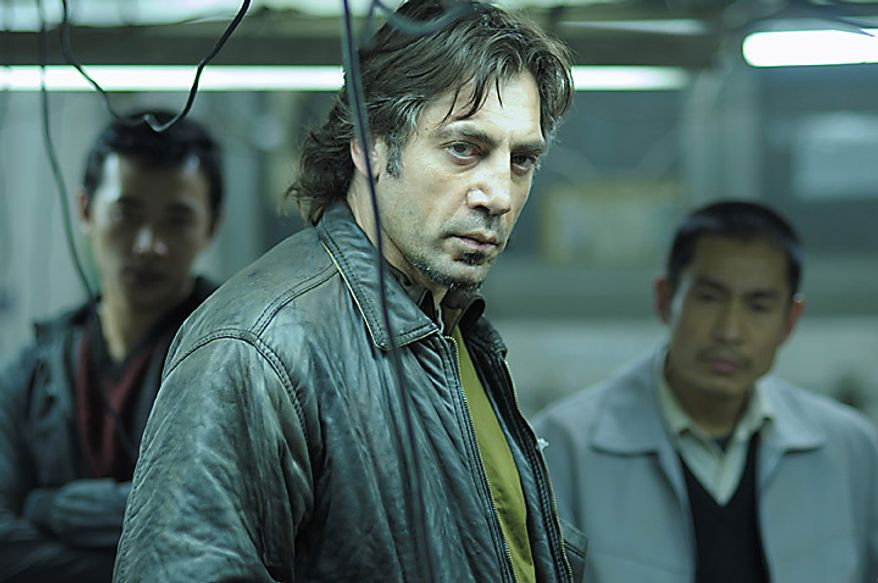 """Actor Javier Bardem, as Uxbal, in a scene from """"Biutiful."""" The film was nominated for an Academy Award for best foreign film, Tuesday, Jan. 25, 2011. The Oscars will be presented Feb. 27 at the Kodak Theatre in Hollywood. (AP Photo/Roadside Attractions, Jose Haro) NO SALES"""