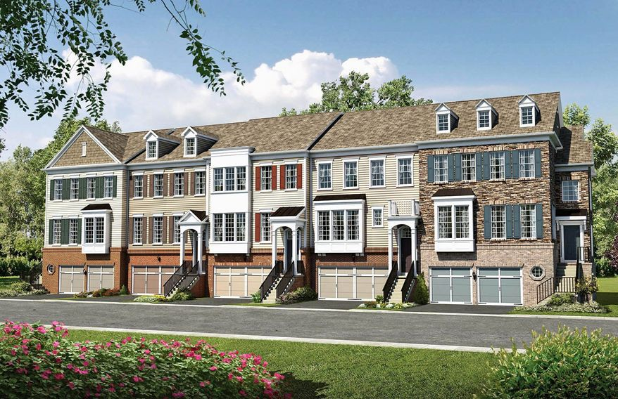 Pulte Homes is building 241 town homes and 57 single-family homes on 6,500- to 7,500-square-foot sites at East Gate in Chantilly. The town homes have 2,049 to 2,711 finished square feet, with base prices from $338,990 to $412,900.