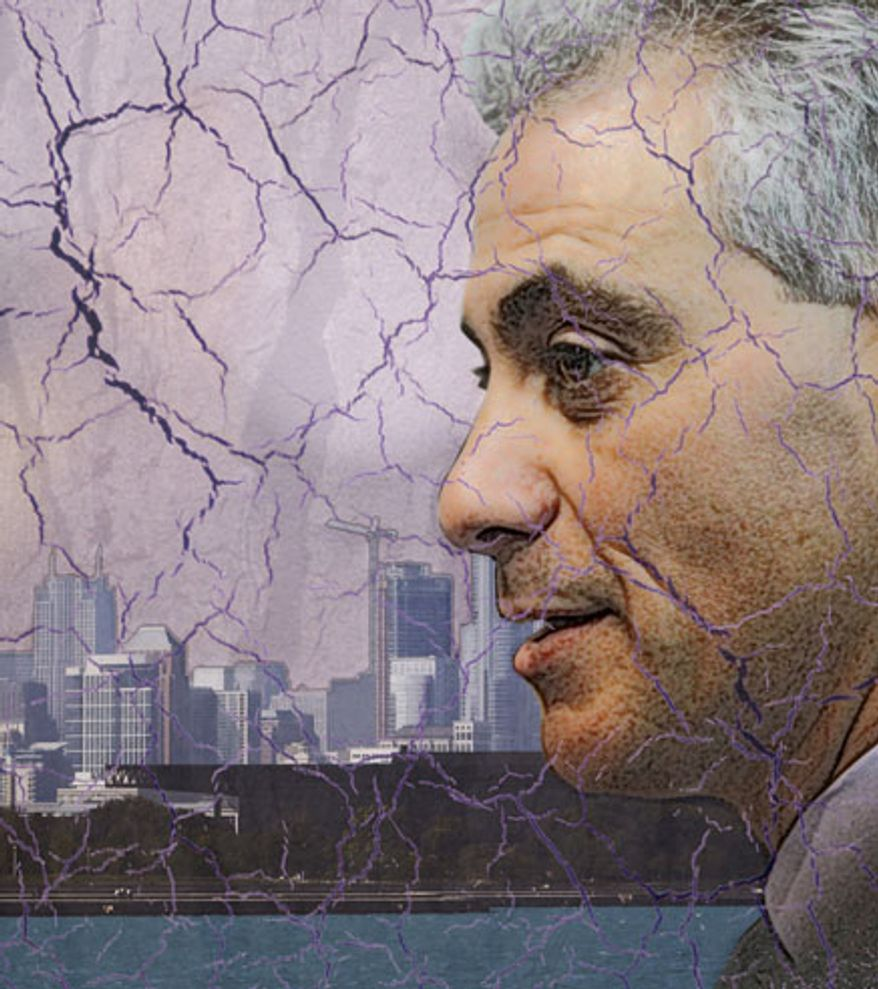 Illustration: Rahm's dream by Greg Groesch for The Washington Times