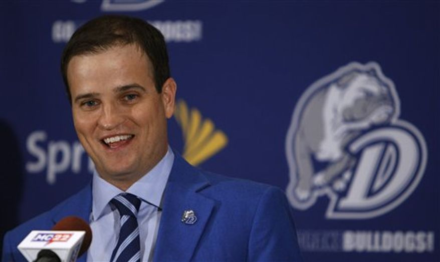 PGA golfer Zach Johnson speaks during a news conference after receiving an award from his alma mater Drake University, Tuesday, Jan. 25, 2011, in Des Moines, Iowa. (AP Photo/Charlie Neibergall)