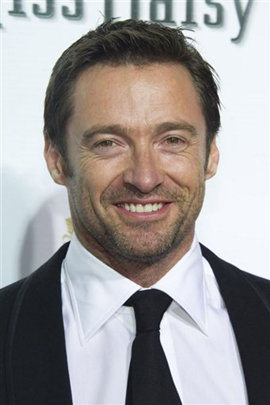 "FILE - In this Oct. 25, 2010 file photo, Hugh Jackman attends the opening night of ""Driving Miss Daisy"" on Broadway in New York. (AP Photo/Charles Sykes, file)"