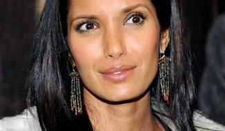 "FILE - In this Dec. 14, 2010 file photo, TV personality Padma Lakshmi attends the premiere of ""True Grit"" at the Ziegfeld Theatre in New York. (AP Photo/Evan Agostini, file)"