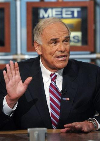 """FILE - In this April 18, 2010 file photo provided by """"Meet the Press,"""" former Pennsylvania Gov. Ed Rendell appears on """"Meet the Press'"""" at the NBC studios in Washington. NBC News has named Rendell as a political analyst, the network announced Tuesday, Jan. 25, 2011. (AP Photo/Meet The Press, William B. Plowman, File) MANDATORY CREDIT:  WILLIAM B. PLOWMAN, MEET THE PRESS, NO SALES."""
