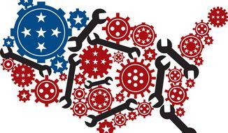 Illustration: Regulatory America by Linas Garsys for The Washington Times