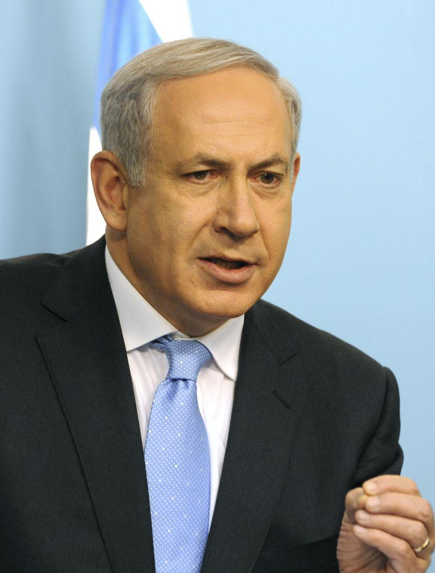 ** FILE ** Israeli Prime Minister Benjamin Netanyahu (AP Photo/Debbie Hill, Pool)