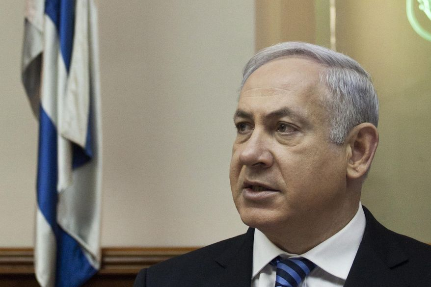 Israeli Prime Minister Benjamin Netanyahu convenes his weekly Cabinet meeting in Jerusalem on Sunday, Jan. 30, 2011. Mr. Netanyahu said his country's 30-year-old peace agreement with Egypt must be preserved, in his first public comment on the political unrest roiling Israel's neighbor and regional ally. (AP Photo/Tomer Appelbaum, Pool)