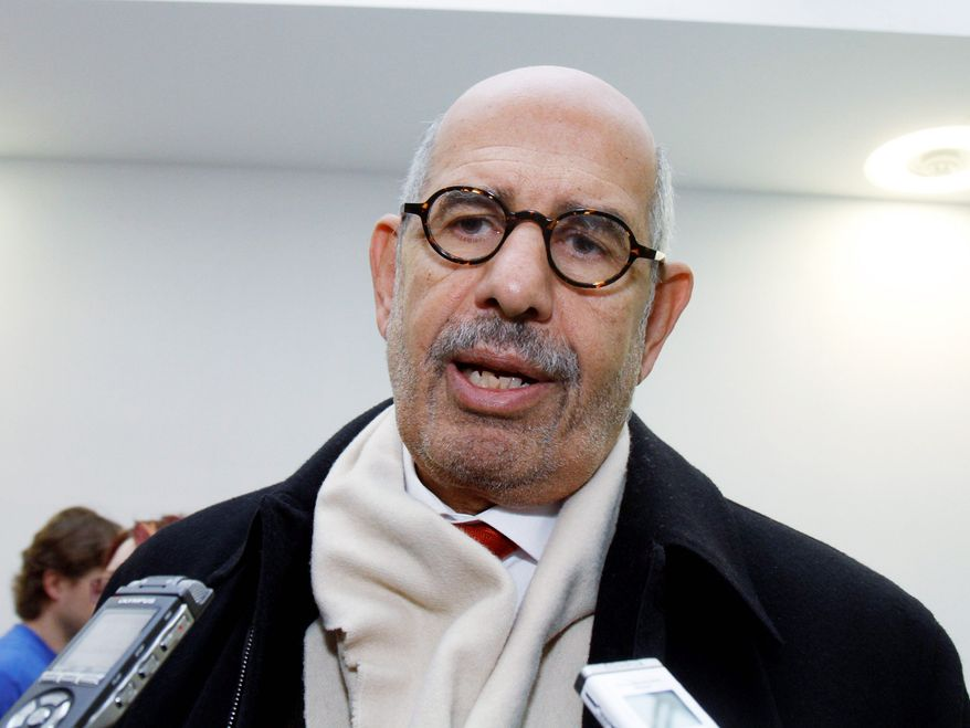 Egyptian Mohamed ElBaradei, a former nuclear watchdog, has emerged as a possible reform broker and leader in Cairo, but he has a reputation as a foe of U.S. interests. As International Atomic Energy Agency director, Mr. ElBaradei never allowed his agency to affirm one way or the other in public that Iran was pursuing nuclear weaponry. (AP Photo)