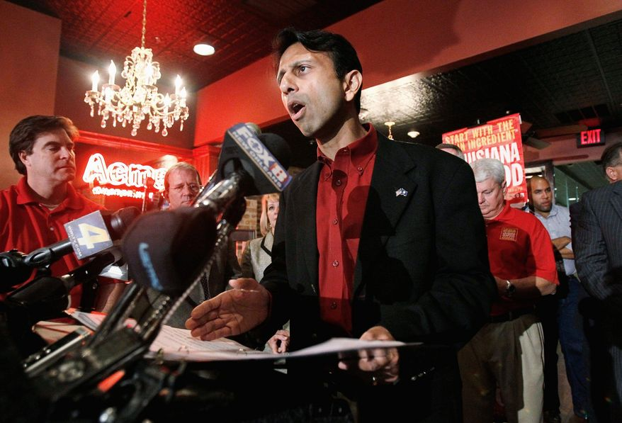 """Louisiana Gov. Bobby Jindal, seen here Nov. 1 in New Orleans announcing an agreement by BP to provide funding for seafood-safety testing, coastal-restoration efforts and tourism marketing after April's Gulf of Mexico oil spill, said Wednesday the claims process """"remains unfair to claimants."""" (Associated Press)"""