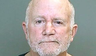 In a booking photo provided by the Dearborn, Mich., police department, Roger Stockham is shown. (Associated Press)