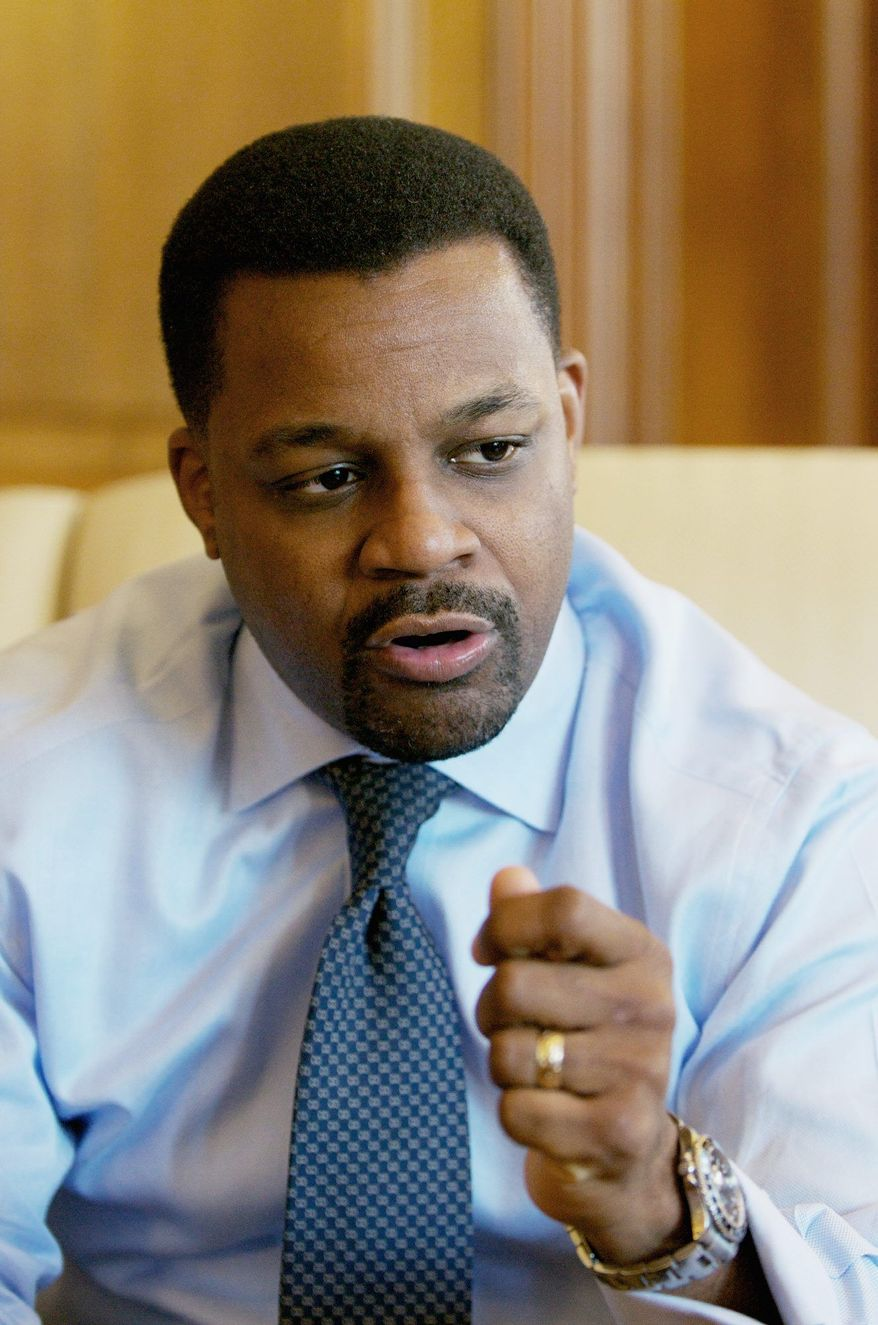 FOCUSED: New D.C. Council Chairman Kwame R. Brown says the governing body won't be just a rubber stamp. (Rod Lamkey Jr./Special to The Washington Times)
