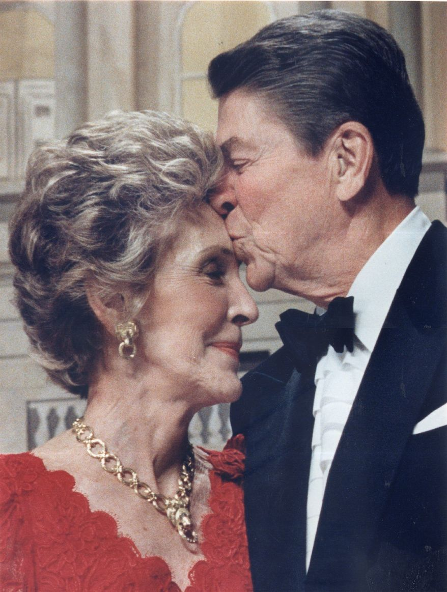 Ronald and Nancy Reagan were deeply affectionate, close friends say. (The Washington Times)