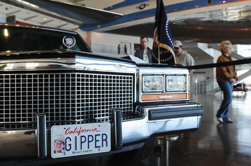 This 1983 Cadillac presidential parade limousine joined Reagan's motorcade in January of 1984. (Garrett Cheen/Special to The Washington Times)