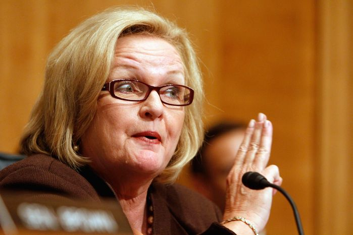 Sen. Claire McCaskill, Missouri Democrat, is being targeted for defeat in the 2012 elections. The Republican Party is portraying her as a free spender and one of President Obama's most reliable allies. (Associated Press)