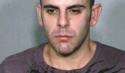 Anthony M. Carleo, 29, of Las Vegas is shown in a police booking photo. (AP Photo/Las Vegas Metropolitan Police Department)