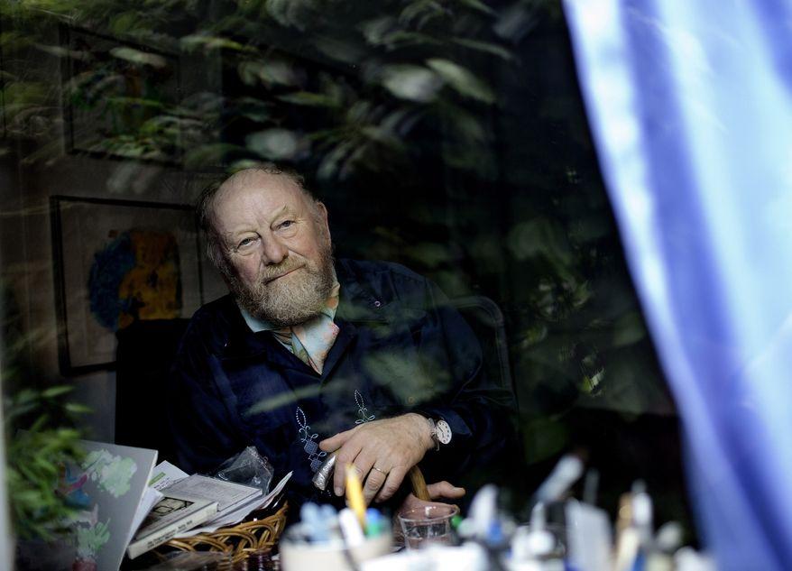 ** FILE ** Danish cartoonist Kurt Westergaard, whose caricature of the Prophet Muhammad inflamed Islamist terror groups, is pictured at his home near Aarhus, Denmark, in June 2010. (AP Photo/Peter Hove Olsen, POLFOTO)