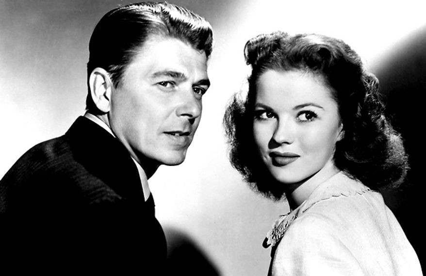 "Shirley Temple starred with Ronald Reagan in ""That Hagen Girl"" in 1947. (Photo courtesy Turner Move Classics)"