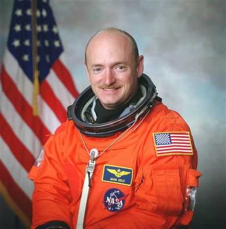 Astronaut Mark Kelly prepares to discuss his decision to command the final flight of the Space Shuttle Endeavor during a news conference at Johnson Space Center  on Friday, Feb. 4, 2011 in Houston. Kelly's wife, Representative Gabrielle Giffords is recuperating from a gunshot wound to the head in a Houston hospital.  AP Photo / Michael Stravato)